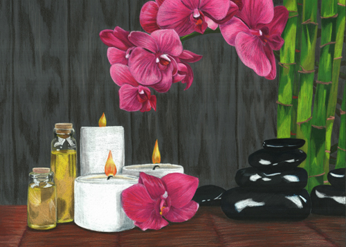 Tranquility Spa LE Reproduction Matted to 8x10