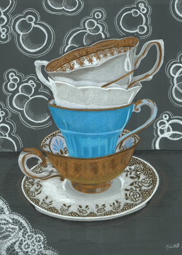 Teatime! LE Reproduction Matted to 8x10