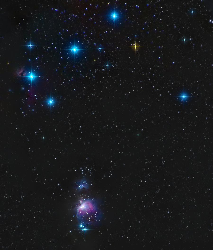 Orion belt and sword
