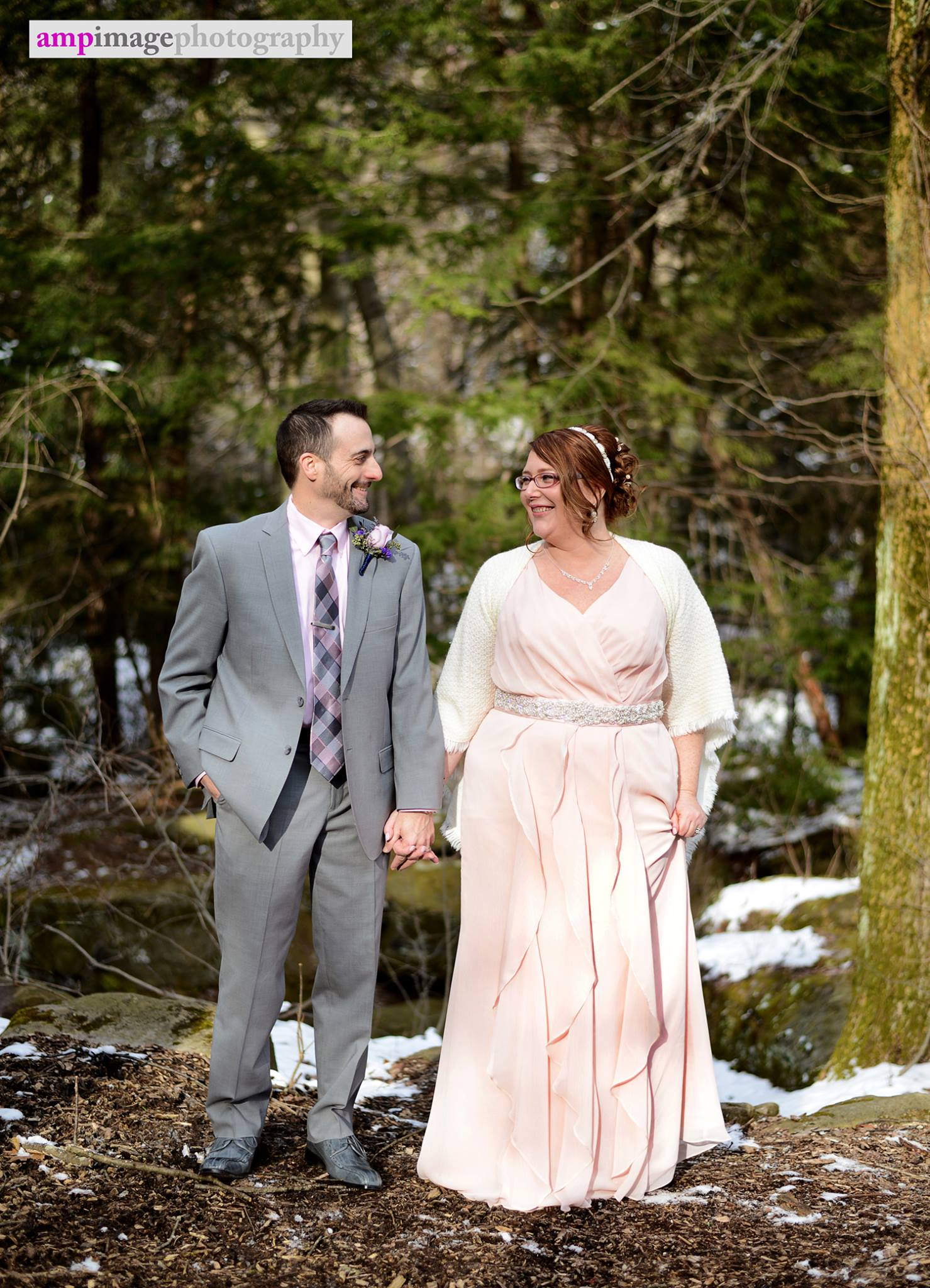 Amy & Steve | Wedding | Downtown Youngstown | Mill Creek Park | Lily Pond | Bears Den Cabin
