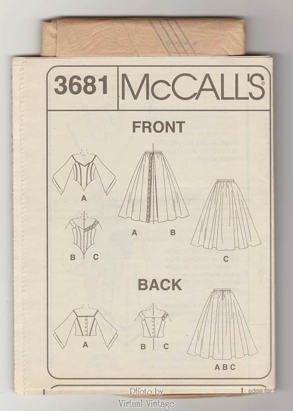McCalls 3681, Wedding Dress or Evening Gown Pattern, Size 6, 8, 10, 12 Uncut