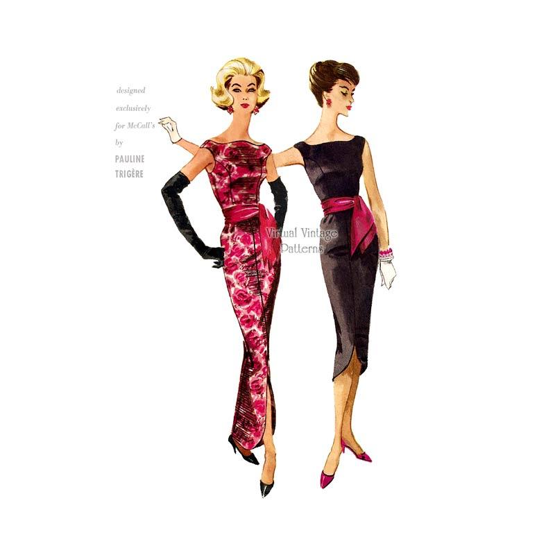 McCall's 5131, evening dress pattern by Pauline Trigère