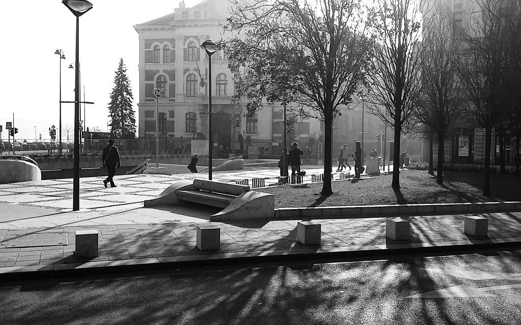 Gellert square, Budapest, 2015