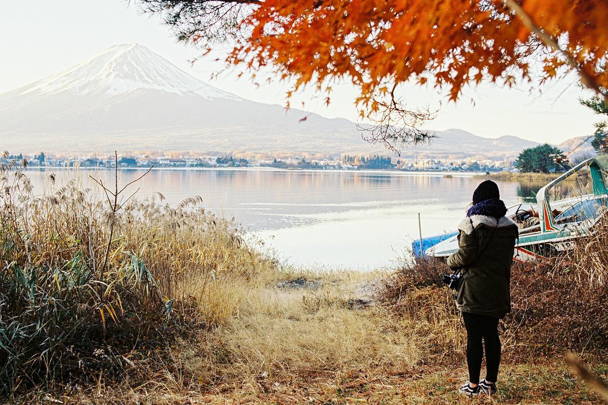 Mt Fuji on Kodak Vision film