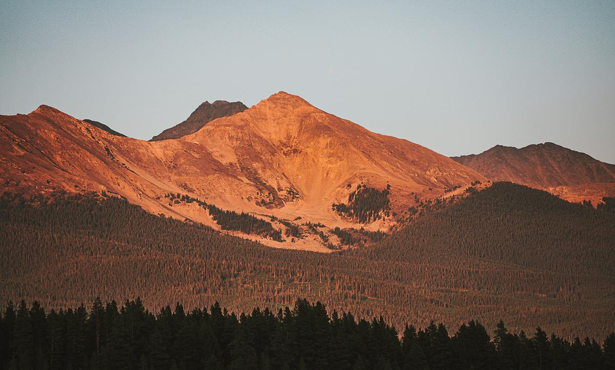 Dispersed camping views in Gunnison, Colorado