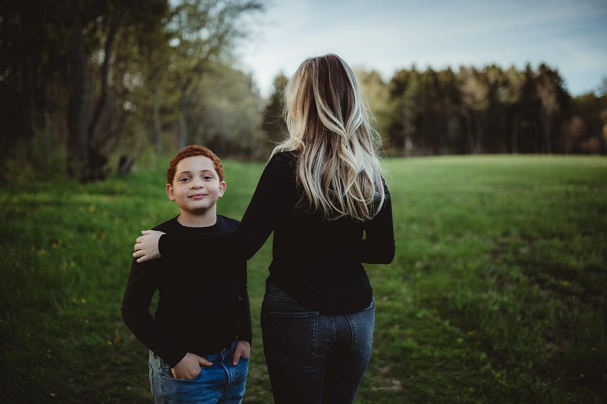 Mother Son Portrait