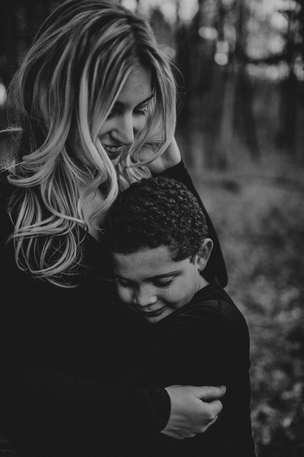 Mother Son Hug