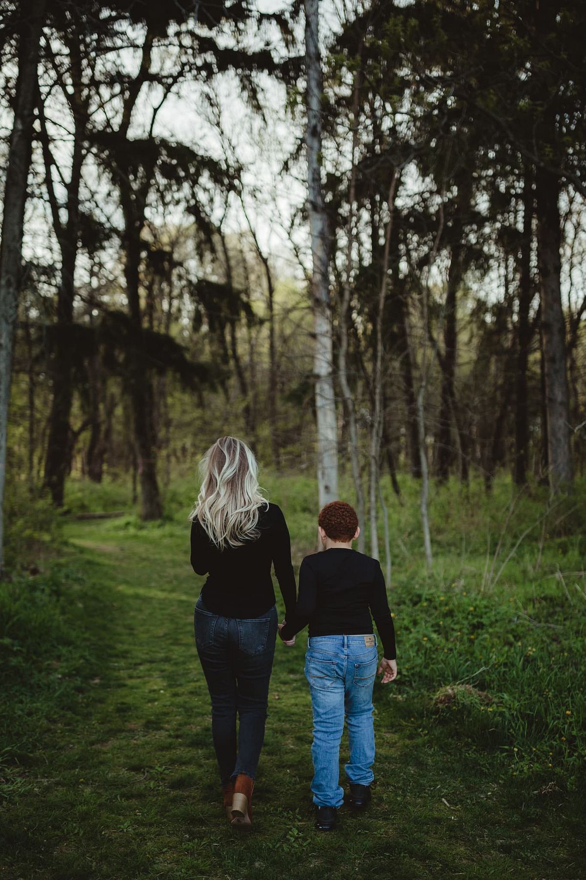 Mother Son Walking
