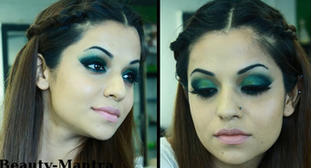Green smokey Arabic eyes..