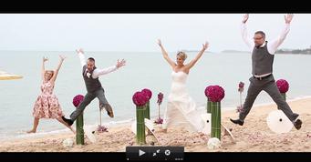 Kate& rob wedding at Miskawaan Samui Thailand