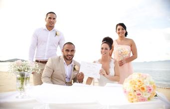 Miskawaan Villa wedding ceremony of Natalie & Thomas