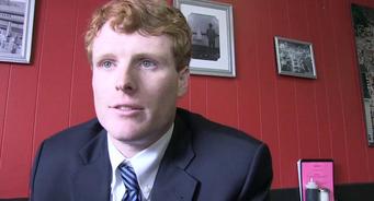 Joseph P. Kennedy announces his congressional bid