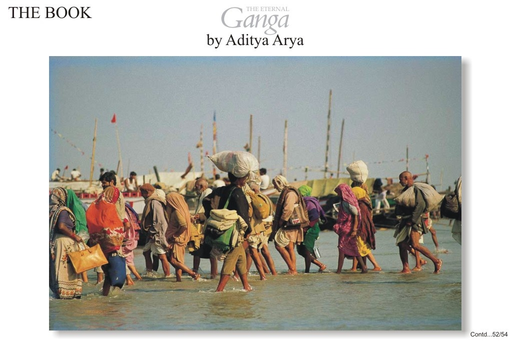 Pilgrims arriving at Ganga Sagar, not far mouth of the Ganga where the river empties into the Bay of Bengal.