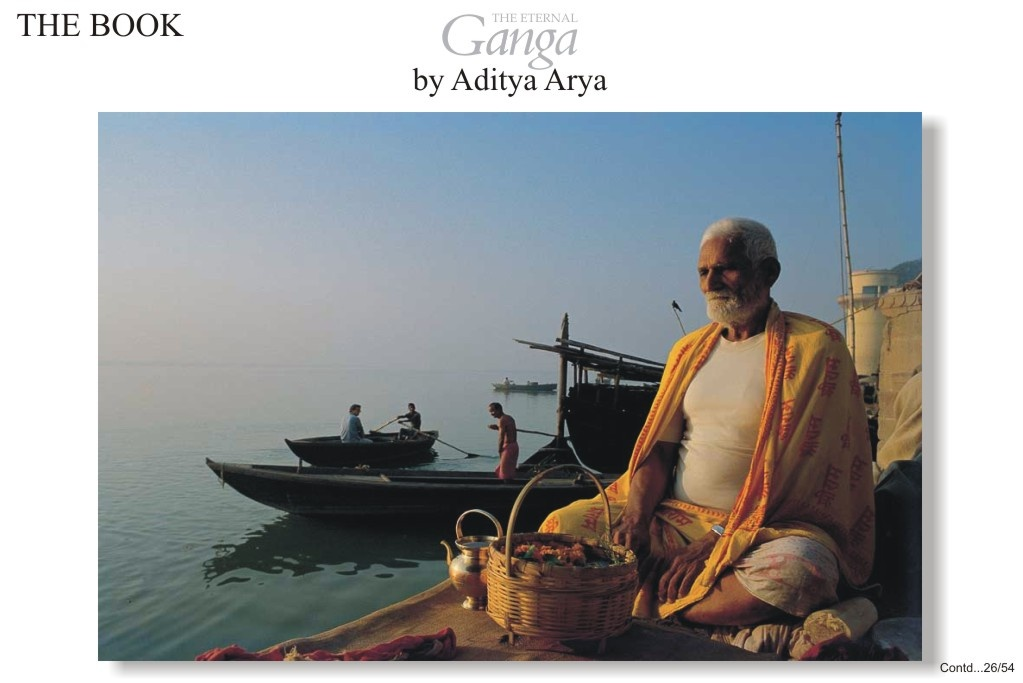 People come to Varanasi to bathe in the Ganga and meditate on its banks.