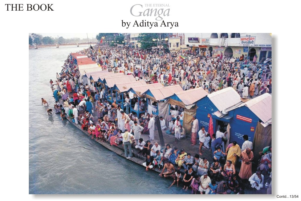 Pilgrims from all over India gather for the Kumbh Mela at Hardwar.