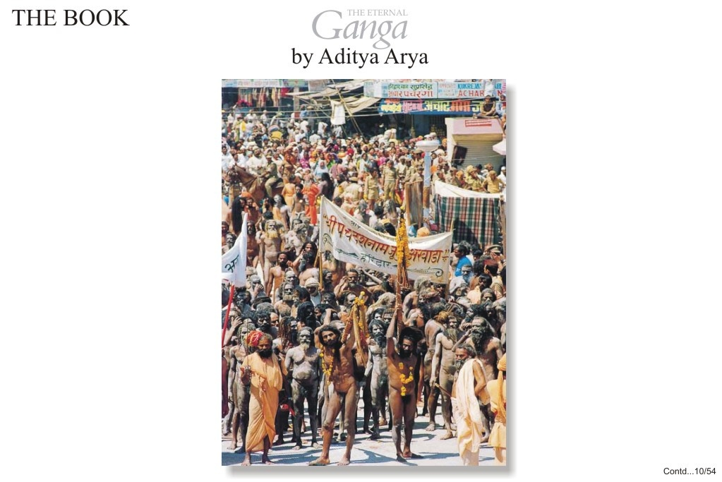 A procession of Naga sadhus during the Kumbh Mela at Hardwar. These sadhus have the right to bathe in Ganga at most auspicious moment and all other must wait for them to finish.