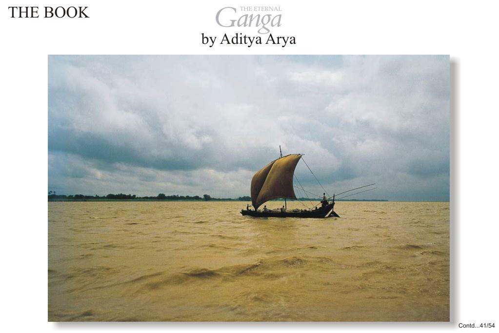 A sailboat on the Ganga near the Bihar-Bengal border