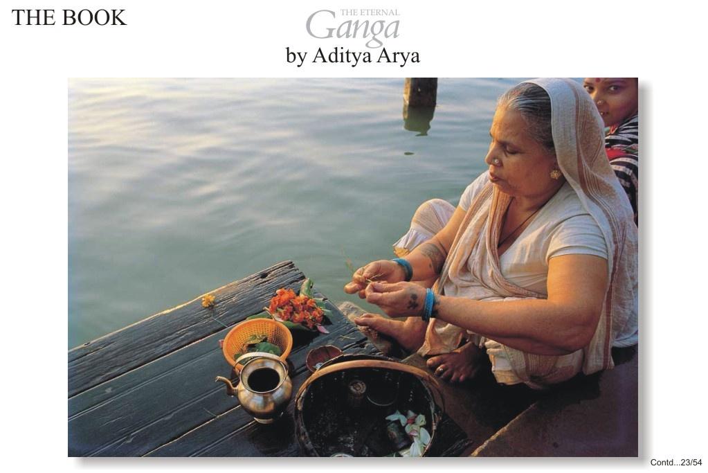 Rituals on a ghat at Varanasi.