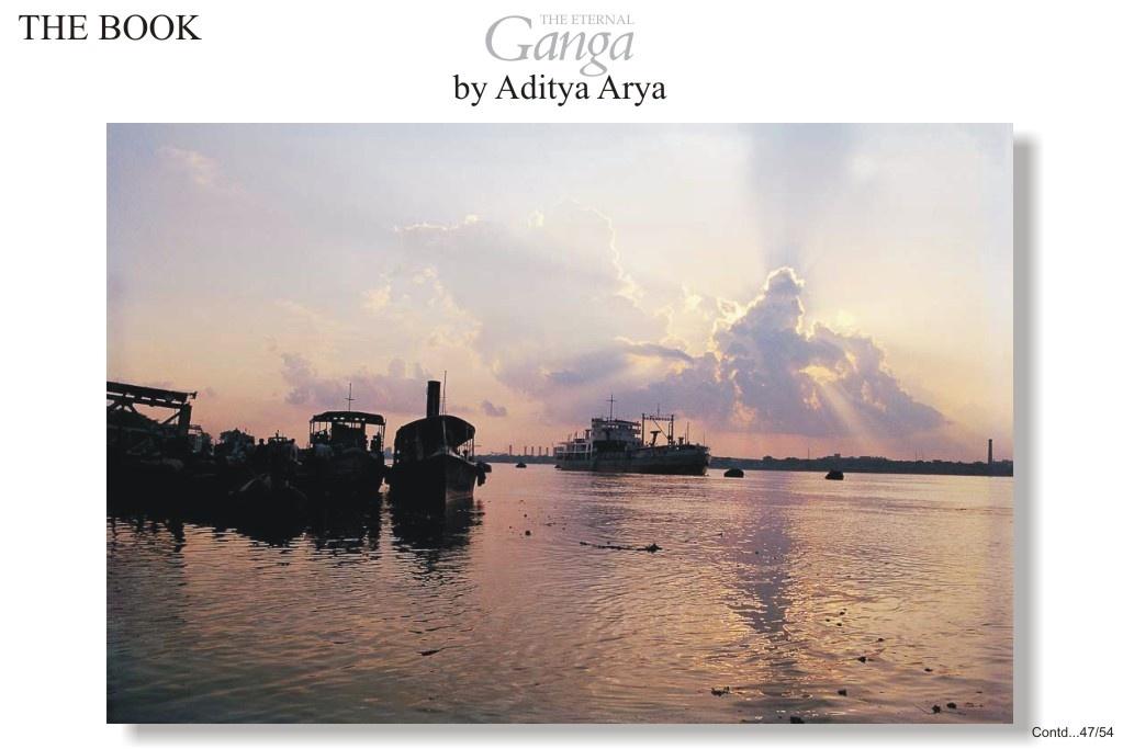 Steamers and tugs still ply on the Ganga near Calcutta.