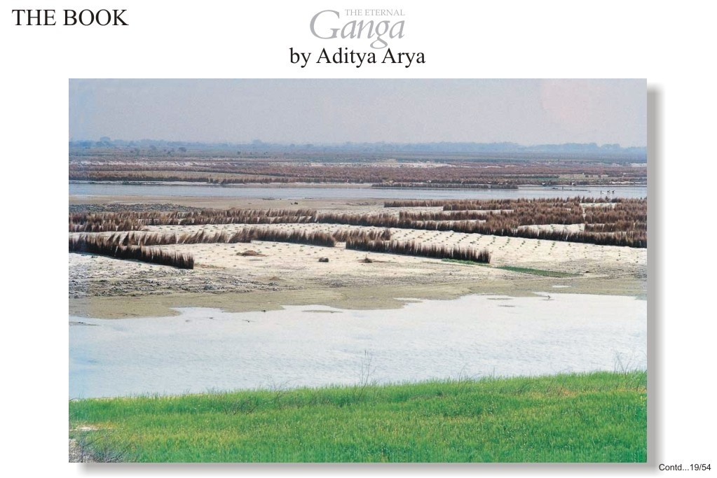 With the fall in the water level of the Ganga in summer, long stretches of sandbank appear which are ideal for the cultivation of various cucurbitaceous plants.