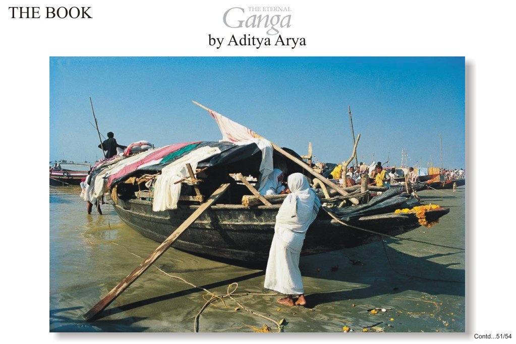 Pilgrims who journey to Ganga Sagar to participate in fair often camp in the boat in which they have travelled.