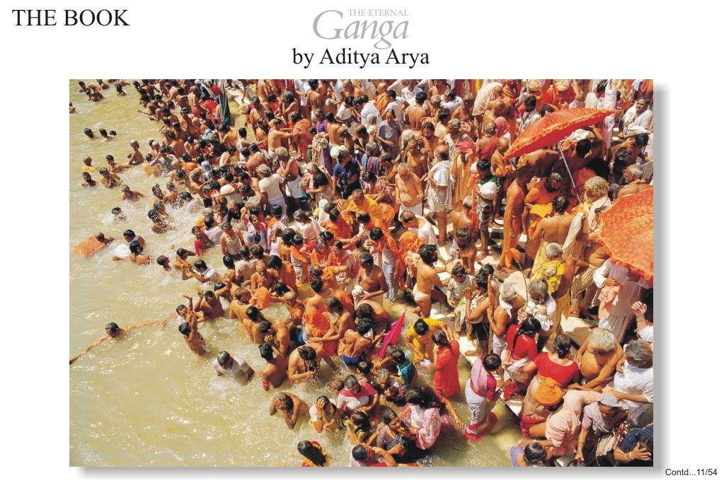 A mammoth assemblage of pilgrims at Hardwar for the Kumbh Mela.