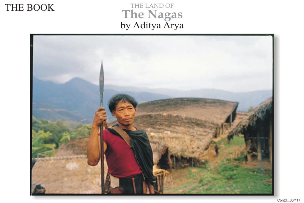 A young man on his way to the jhum fields,