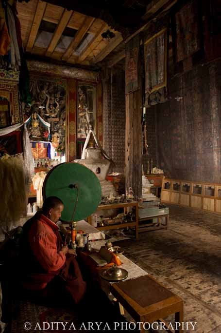 LADAKH, ALCHI, PAINTING, , INDIA, BUDDHIST ART, DOCUMENTATION OF CULTURAL HERITAGE BY RENOWNED PHOTOGRAPHER ADITYA ARYA,