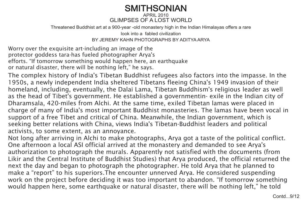 Alchi Ladakh photography smithsonian  Aditya Arya
