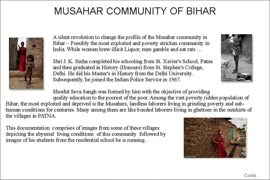 MUSAHAR COMMUNITY BIHAR