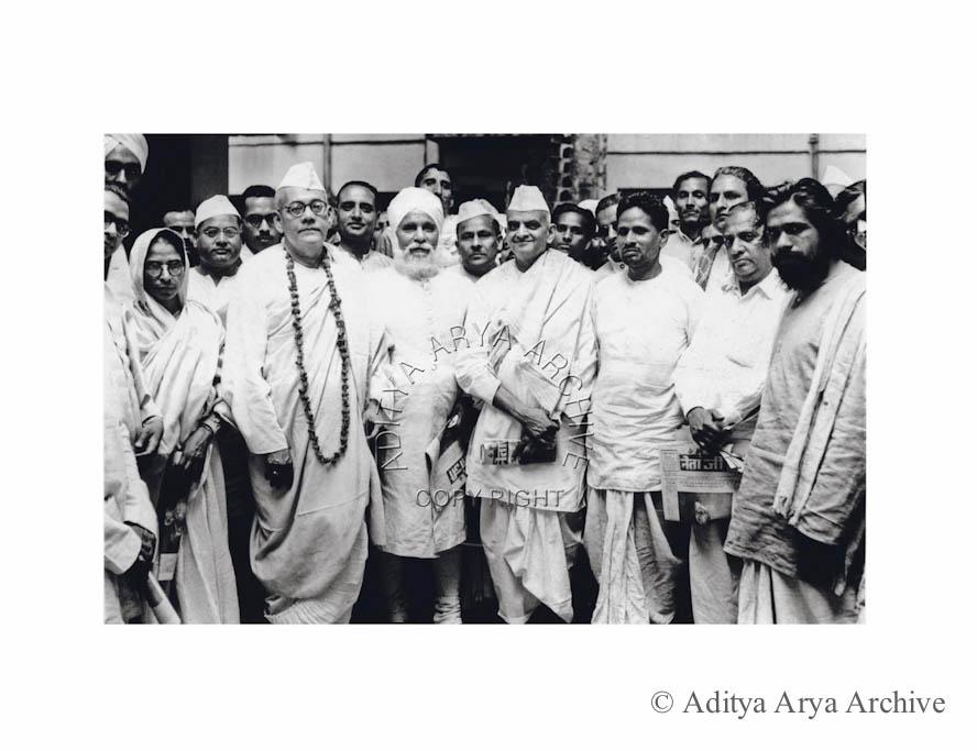 Sarat Chandra Bose at  the launch of the daily newspaper Netaji. Undated