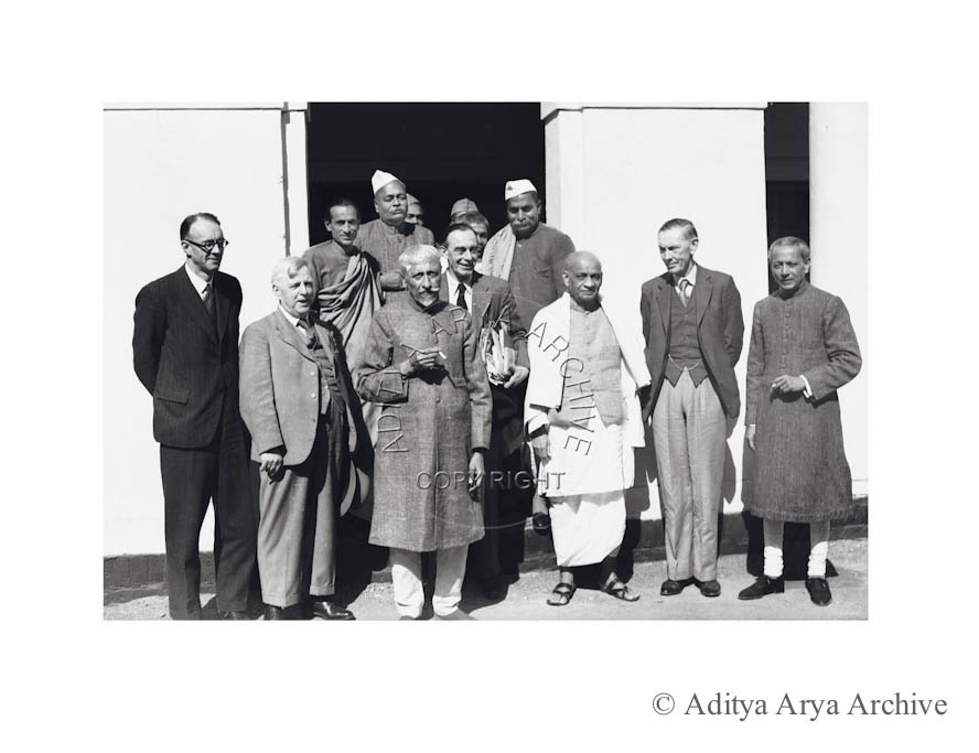 Indian delegates at the Cabinet Mission. Undated