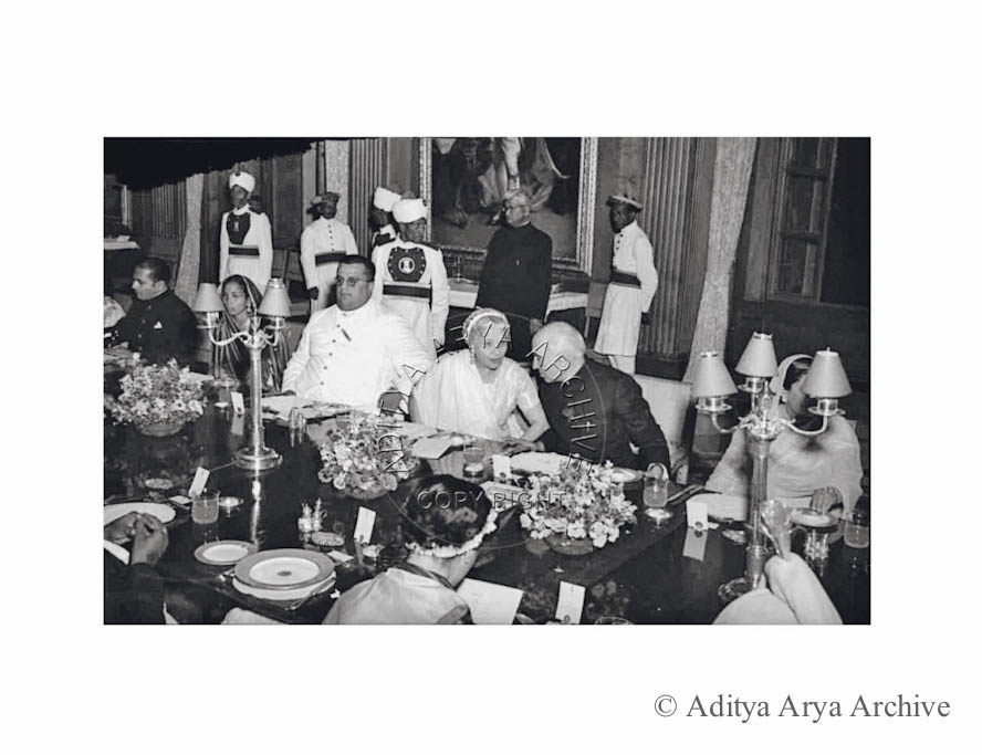 Jawaharlal Nehru with rulers of Central India. 1948