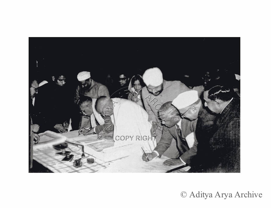 The signing of the India Constitution, 1950
