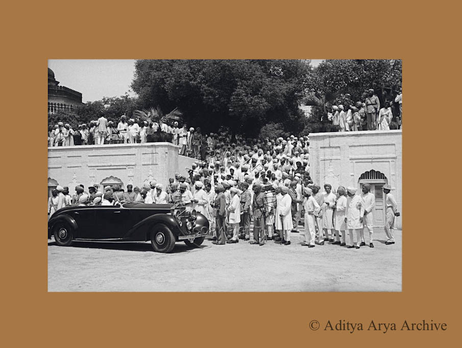 Royalty being received at Patiala. 1948