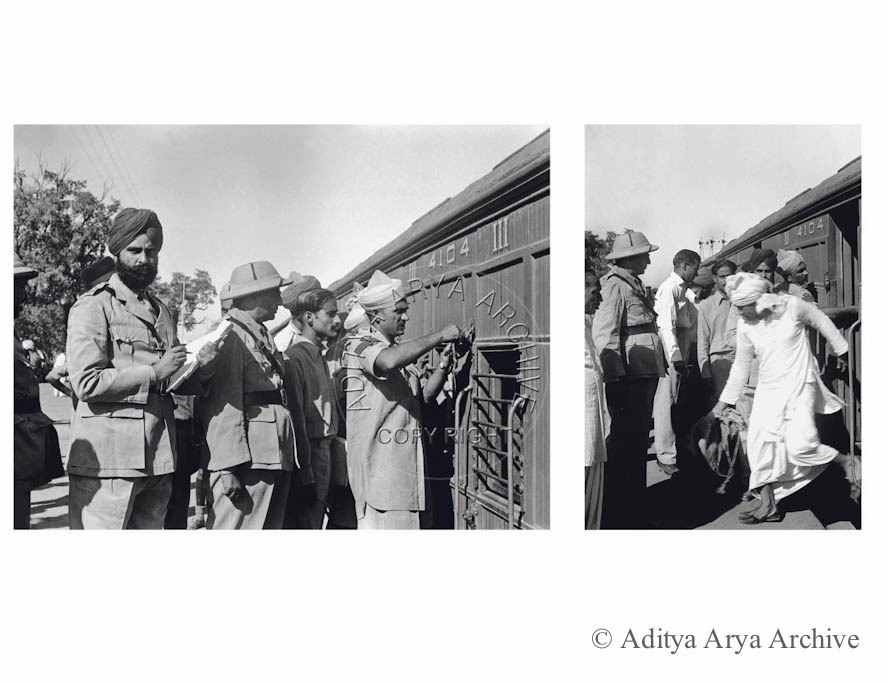 The Jawaharlal Nehru of India –Pakistan prisoners at Ferozepur Railway station Post partition. Undated