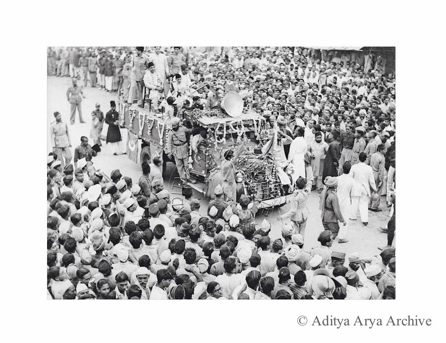 Muslim League procession. Allahabad. 1940s