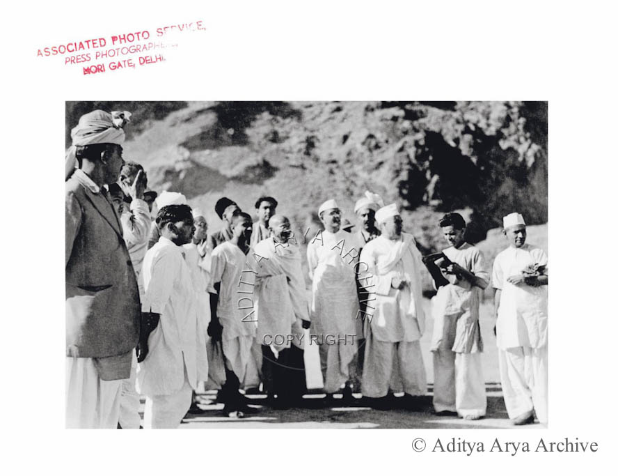 Mahatma Gandhi on his visit to NWFP.1938