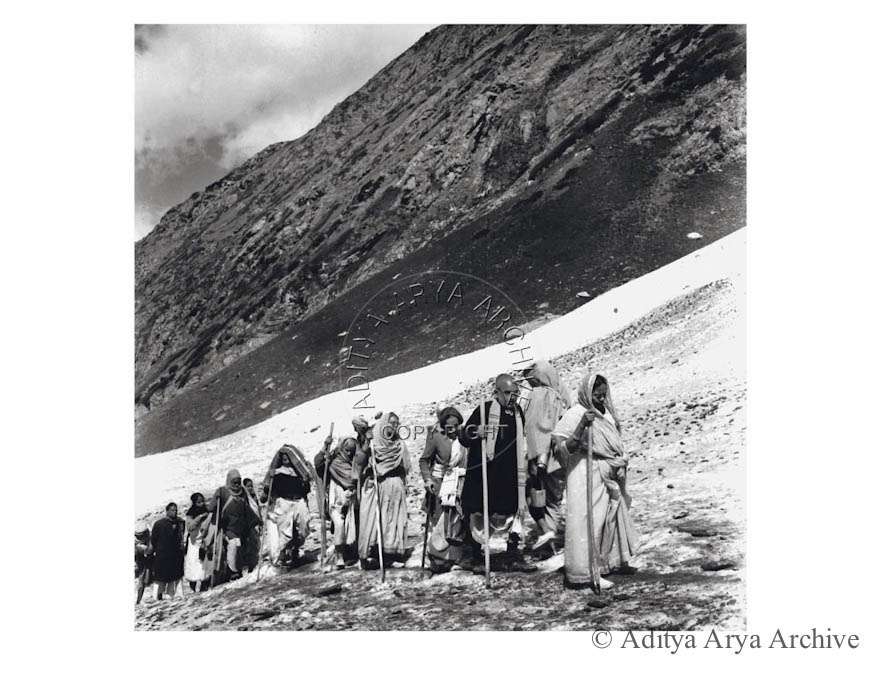 The pilgrimage to Amarnath.1950s