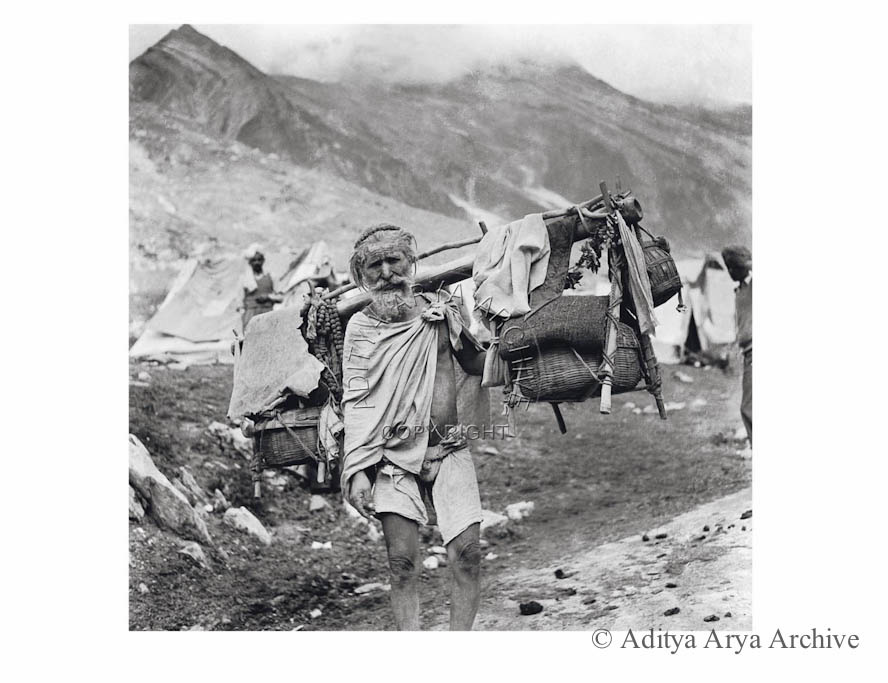 An ascetic on his way to Amarnath. 1950