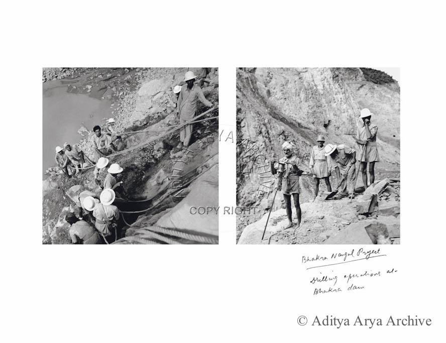 Drilling operations at Bhakhra dam