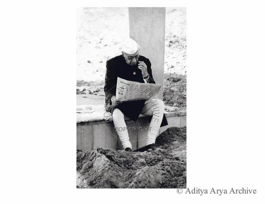 Jawaharlal Nehru at Rajghat.1949