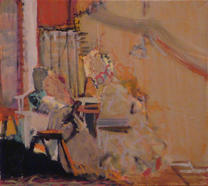 """9""""x10""""                       oil on linen             spanish group small                                   2010"""