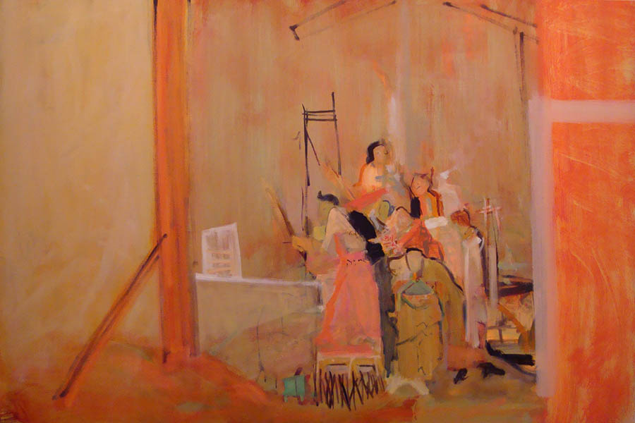 "24""x36""   oil on Linen   Orange sweep, gentle light 
