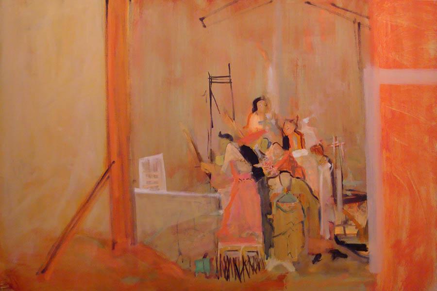 "24""x36""   oil on Linen   Orange sweep, gentle light                  2009-2010"