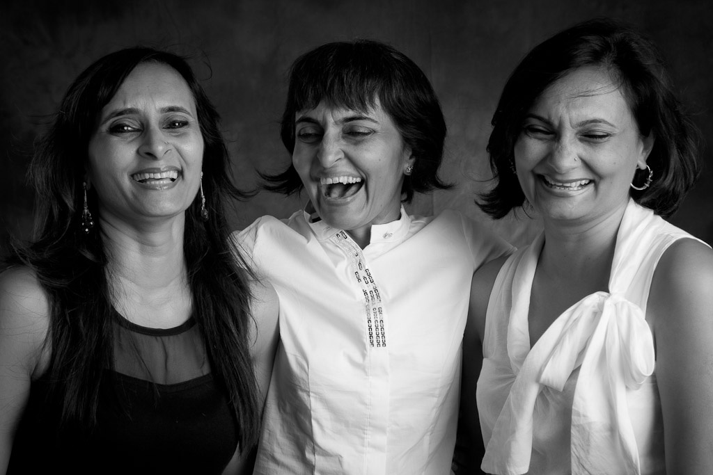 Manika Mookerjee and her sisters, Latika Kumar and Kanika Singh.