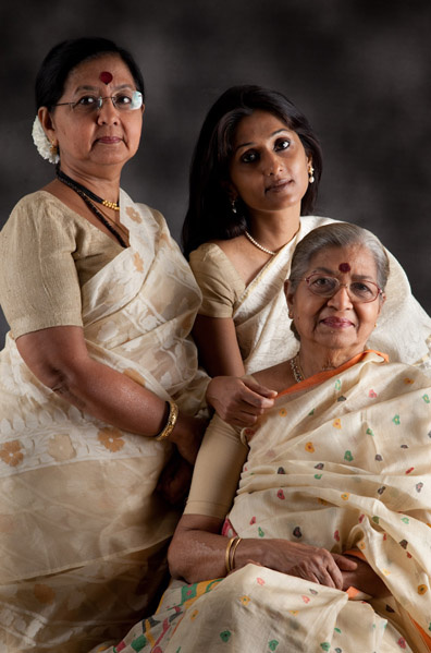 Mishti and her Mom, Neena Bose and grandmother, Mrs. Bhandari.