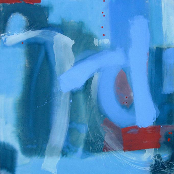"""The 7nth Dimension, 40""""X40"""", Fluid Acrylics on Canvas, Winter 2008.  The UTD Center for Brain Health, Dallas, Texas"""