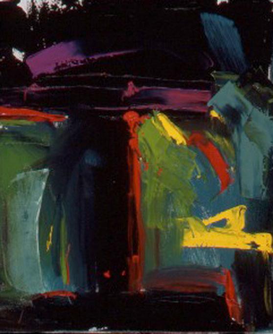 "I-Beam, 30""X24"", Oil on Canvas, 2006. The UTD Center for Brain Health, Dallas, Texas."