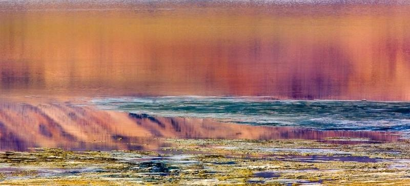 water reflection, tso kar, ladakh, 2008